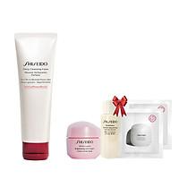 Bộ sản phẩm Sữa rửa mặt tạo bọt làm sạch sâu Shiseido Deep Cleansing Foam 125ml