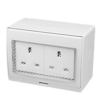 Waterproof IP55 13A Two Socket Plug Outdoor Storm Power Switched  Damp