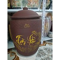 Hũ đựng gạo sành gốm sứ Bát Tràng loại 12Kg