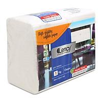 Khăn giấy 1 lớp Lency 33cm gói 1kg