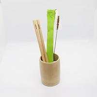 Combo Ly tre và bộ 2 ống hút tre TRĂM ĐỐT - Sản phẩm thủ công handmade từ cây tre tự nhiên