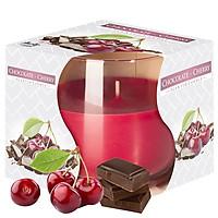 Ly nến thơm tinh dầu Bispol Chocolate Cherry 100g QT024454 - sôcôla, anh đào