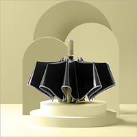 Ô (dù) tự động 2 chiều cao cấp DandiHome chống UV - Vàng mơ - Ngược