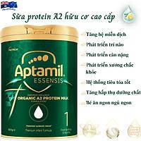 Sữa Cho Trẻ Sơ Sinh Cao Cấp Aptamil Essensis Protein A2 Hữu Cơ Số 1 NK Úc Giàu Dưỡng Chất Gồm Vitamin, Khoáng Chất, Omega-3, Men Vi Sinh Giúp Bé Phát Triển Toàn Diện Chiều Cao, Cân Nặng, Trí Não, Hỗ Trợ Tiêu Hóa Tốt, Tăng Chức Năng Hệ Miễn Dịch -Hộp 900g