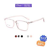 Gọng kính cận trong suốt nam nữ Elmee E2222 nhựa dẻo mắt vuông nhiều màu thời trang