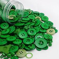 500 cúc nút khuy áo nhựa nhiều màu làm đồ thủ công trang trí rèn vận động tinh cho bé