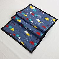 Nệm Ngủ Trưa Văn Phòng HOÀNG THIÊN HÀ - Trang Nhã - 100% vải coton thoáng mát, mềm mại, thấm hút mồ hôi. Giặt được bằng máy. Dể gấp gọn - Có túi đựng riêng