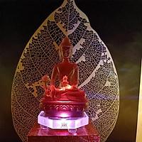 Combo Size To Tượng Phật Dược Sư và Đế Đèn Led