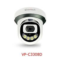 Vantech Camera 3.0MP Network Colorful Dome VP-C3308D - Hàng chính hãng
