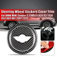 Carbon Fiber Steering Wheel Stickers Cover Trim for BMW MINI Cooper S JCWR55 R56 R57 R58 R59 R60 R61 2007-2013
