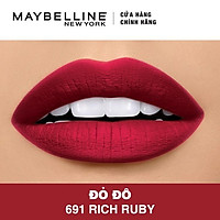Son Lì Siêu Nhẹ Môi Maybelline New York Color Sensational Creamy Mattes 4.2g - Màu 691 Đỏ Đô Rich Ruby