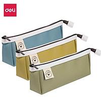 Túi đựng bút đồ dùng cá nhân Deli - Túi vải cao cấp - Xanh dương/Xanh lá/Vàng - 67055