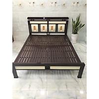 Giường sắt kiểu hộp cao cấp nhiều kích thước từ 1m đến 1m8 mẫu 17