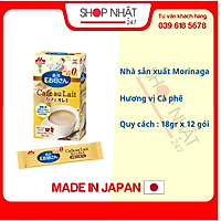 Sữa bầu Morinaga vị cà phê nội địa Nhật  - Tặng túi zip 5 kẹo mật ong Senjaku