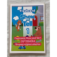 Flashcards  Show and Tell 1 -Size A5- ép plastics  bền đẹp