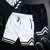 Quần short nam lưng thun chữ V phong cách năng động dễ phối đồ 2 màu trắng đen thời trang thể thao