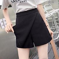 Quần đùi nữ giả váy lưng cao cạp chun cực xinh - short ngắn from dáng mặc công sở thể dục tập gym