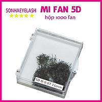 Mi fan 5D dày 0.07 (1 hộp 1000 fan), mi bao đen, mềm mại, xòe, dùng nối mi volume