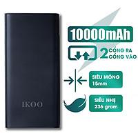 Pin Sạc Dự Phòng IKOO WK-155 Dung Lượng 10.000 mAh - Tích Hợp 2 Cổng Sạc USB - Hàng Nhập Khẩu