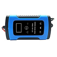 220V Blue English Panel European/American Standard 12V Motorcycle Battery Charger Charger Fully Intelligent General Re