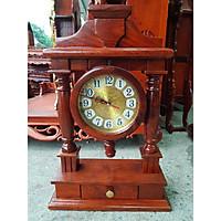 Đồng hồ để bàn gỗ hương thiết kế cực đẹp