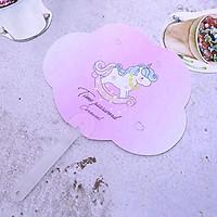 Quạt nhựa cầm tay hình mây ngộ nghĩnh hình Unicorn xinh xắn – F006