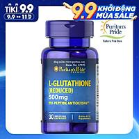Thực Phẩm Chức Năng - Viên Uống Trắng Da, Tăng Cường Hệ Miễn Dịch Puritan'S Pride Premium L-Glutathione 500Mg (30 Viên)