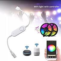 Điều khiển Led 12V RGB WiFi Tuya Smart Life 4 chân. Làm việc với Google Home& Amazon Alexa