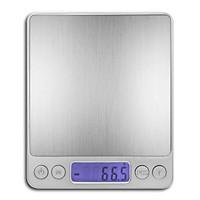 Cân Điện Tử Thực Phẩm Màn Hình Kĩ Thuật Số LCD Với 2 Khay Đồ Ăn (1kg / 0.1g)