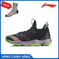Giày cầu lông Lining AYAR011-2 chính hãng dành cho nam, mẫu mới, đế kếp, chống lật cổ chân - Tặng tất thể thao Bendu