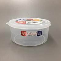 Bộ 2 hộp đựng thực phẩm trong suốt từ nhựa PP cao cấp 800mL - Hàng Nhật nội địa