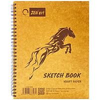Sổ Lò Xo Vẽ 60 Tờ TMG-8726 - Mẫu 1 - Hình Ngựa