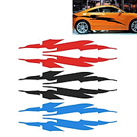 2x Universal Racing Car Stripe Lower Door Panel Decals Vinyl Side Sticker Decor 26x220cm