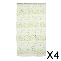 4x1M*2M Green Countryside Flower Tulle Voile Window Curtain Panel Sheer Drapes