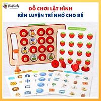 Đồ chơi gỗ lật hình tìm cặp giống nhau- 12 chủ đề rèn luyện trí nhớ là khả năng quan sát cho bé