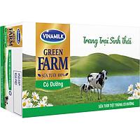 Thùng 48 Sữa Tươi Tiệt Trùng Vinamilk Green Farm - Sữa Tươi 100% Có Đường 110ml