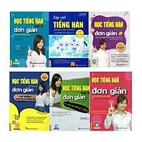 Trọn Bộ 6 Cuốn Học Tiếng Hàn Đơn Giản Cho Người Mới Bắt Đầu (Học Kèm App MCBooks) (Tặng Audio books) (Quà Tặng: Bút Blue Đáng Yêu)