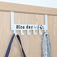 Móc treo quần áo gắn sau cánh cửa tử HOBBY MTGC Nice Day 6 chấu - 2 màu tùy chọn