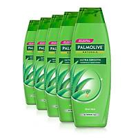 Bộ 5 chai dầu gội kèm dầu xả Palmolive Suôn Mượt Chắc khỏe từ Nha đam & vitamin 180ml/chai