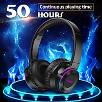 【Free Shipping + Flash Deal】LED Wireless Bluetooth Headset Touch Control Headphones 50 Hours Music Time