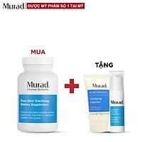 Viên uống giảm mụn Murad Pure Skin 120 viên Tặng Oil Free Water Gel 5ml + Clarifying Cleanser 15ml