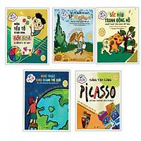 Combo 5 cuốn sách dậy hội họa dành cho thiếu nhi: Let's Color - Những Yếu Tố Cơ Bản Trong Hội Họa + Nét Vẽ Mạnh Mẽ Như Vangogh + Sắc Màu Tranh Đông Hồ + Nghệ Thuật Vòng Quanh Thế Giới + Sáng Tạo Cùng Picasso