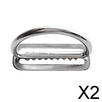 2x316 Stainless Steel Scuba Diving Weight Belt Keeper D Rings for 5cm Webbing