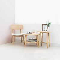 Set 2 Bàn Sofa - Bàn Cafe - Bàn Trà Tròn Gỗ Sồi MOHO OSLO 901