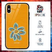 Ốp Kính Ip In Hình Hoa Cúc IPBOX Cho Iphone Se2020/12/11/Pro Max/X/Xr/Xs/Max/8/7/6/6S Plus