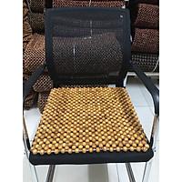 Miếng lót ghế văn phòng hạt gỗ Pơ Mu - Kích thước 45cm x 45cm - Đệm , thảm ,Lót giải nhiệt mùa hè