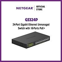 Bộ Chia Mạng Để Bàn 24 Cổng 10/100/1000M Với 16 Cổng PoE Gigabit Ethernet Unmanaged Switch Netgear GS324P - Hàng Chính Hãng