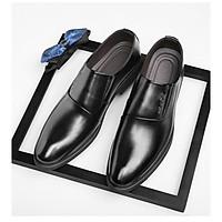 Giày da giày da nam cao cấp giày da nam đẹp giày nam cao cấp sang trọng giày tây nam không dây giày da nam công sở giày lười mã 36633.LK