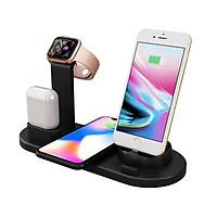Đế sạc nhanh không dây 3 in 1 hỗ trợ sạc cho Smartphone Iphone, SamSung / Apple Airpods / Appe Watch Công suất 10W, Wireless Quick charge, chuẩn Qi