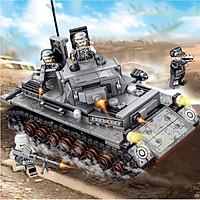 Bộ đồ chơi lắp ráp, xếp hình xe tăng quân sự (mẫu ngẫu nhiên)